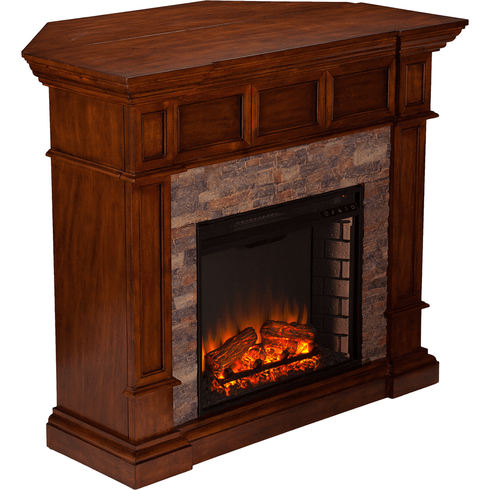 sei fe9637 merrimack simulated stone convertible electric fireplace corner fit