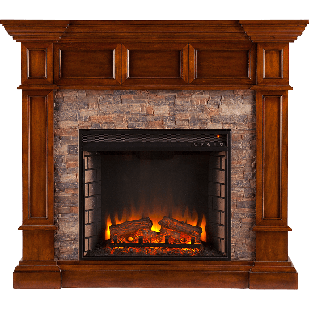 sei fe9637 merrimack simulated stone convertible electric fireplace front