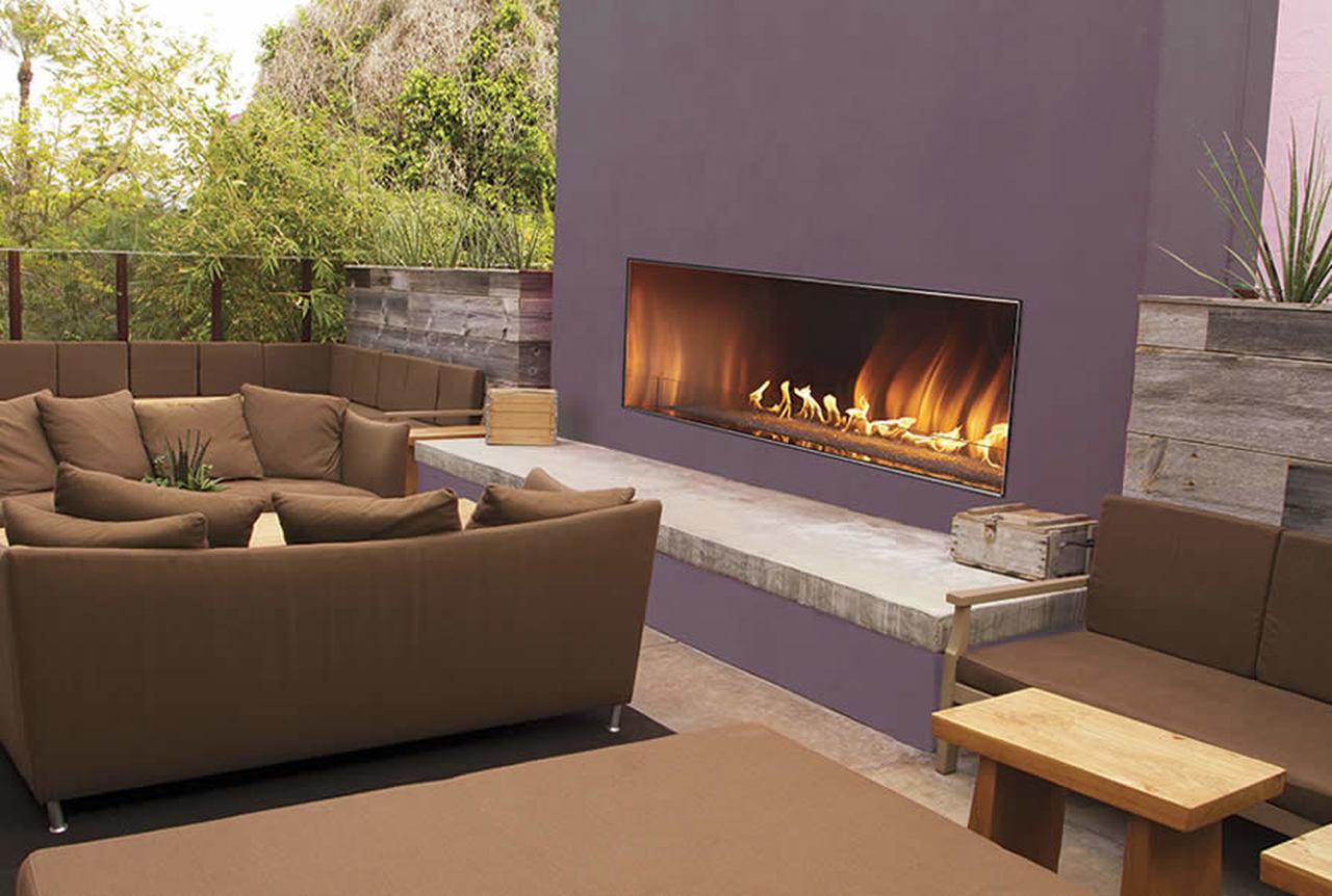 carol rose outdoor linear gas fireplace