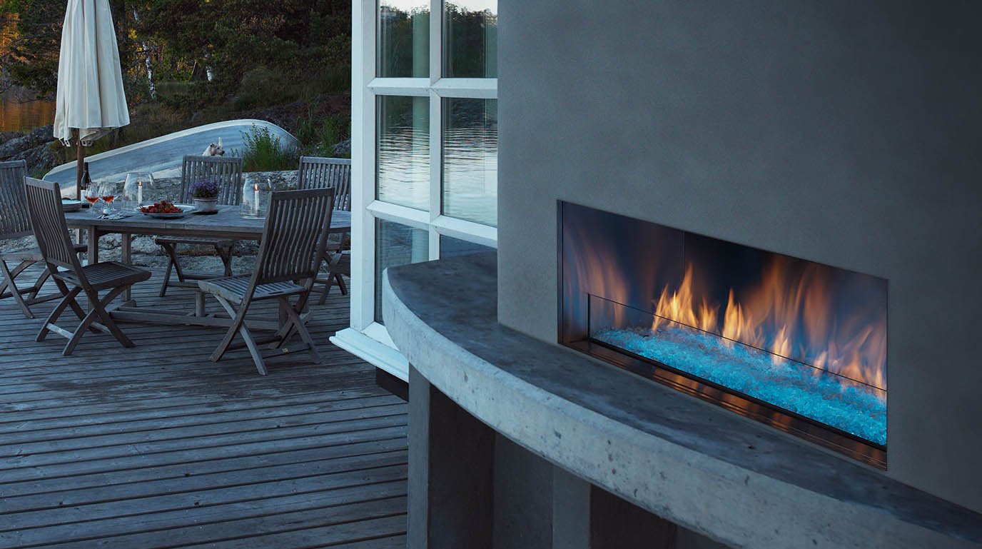 palazzo outdoor gas fireplace