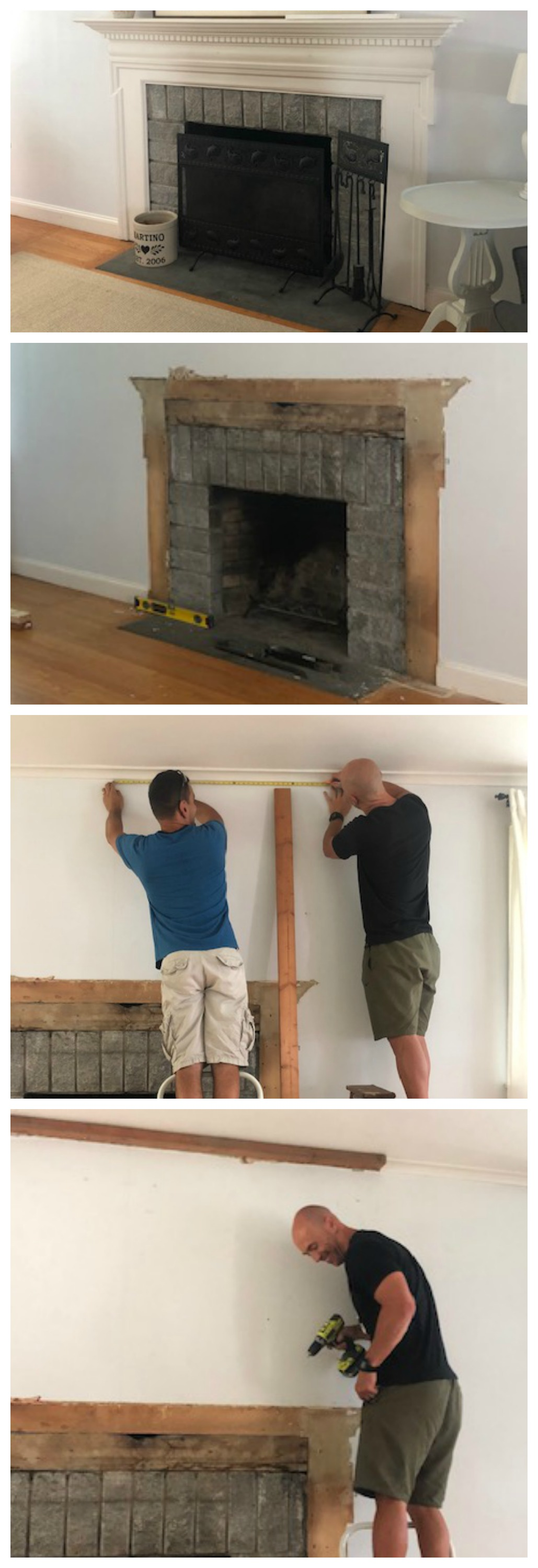 Shiplap Fireplace and DIY Mantle