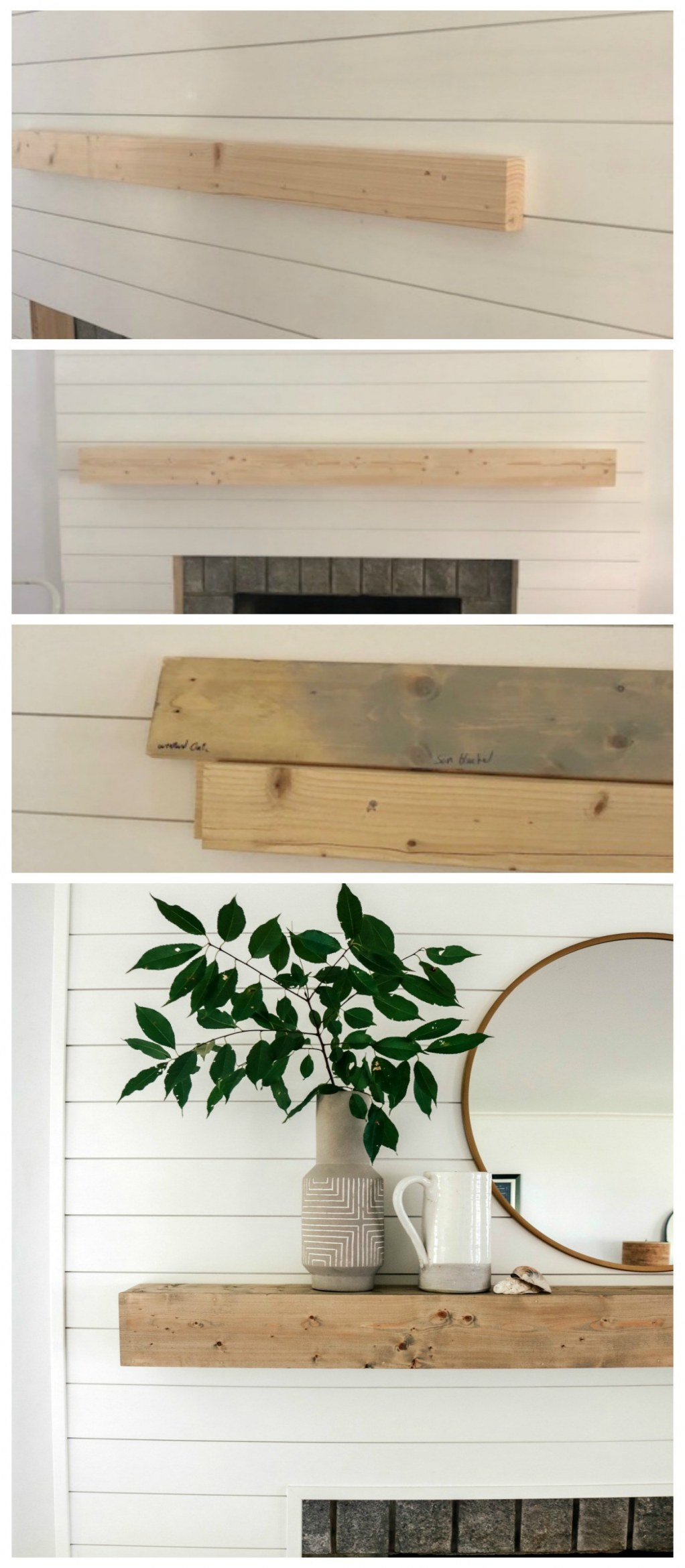 diy fireplace mantel shelf shiplap fireplace and diy mantle ditched the old of diy fireplace mantel shelf