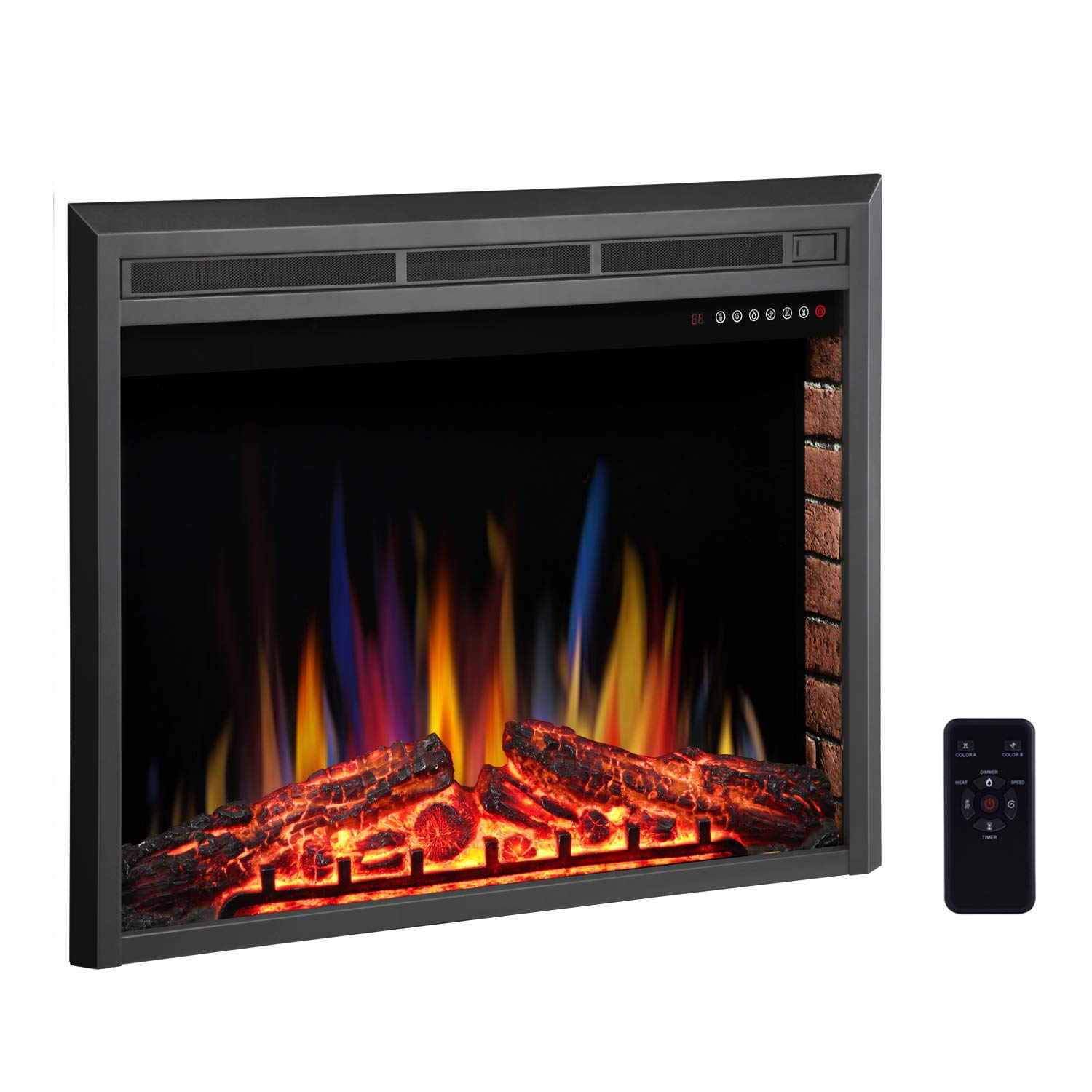 """Double Sided Electric Fireplace Awesome Rwflame 28"""" Electric Fireplace Insert Freestanding & Recessed Electric Stove Heater touch Screen Remote Control 750w 1500w with Timer & Colorful Flame"""