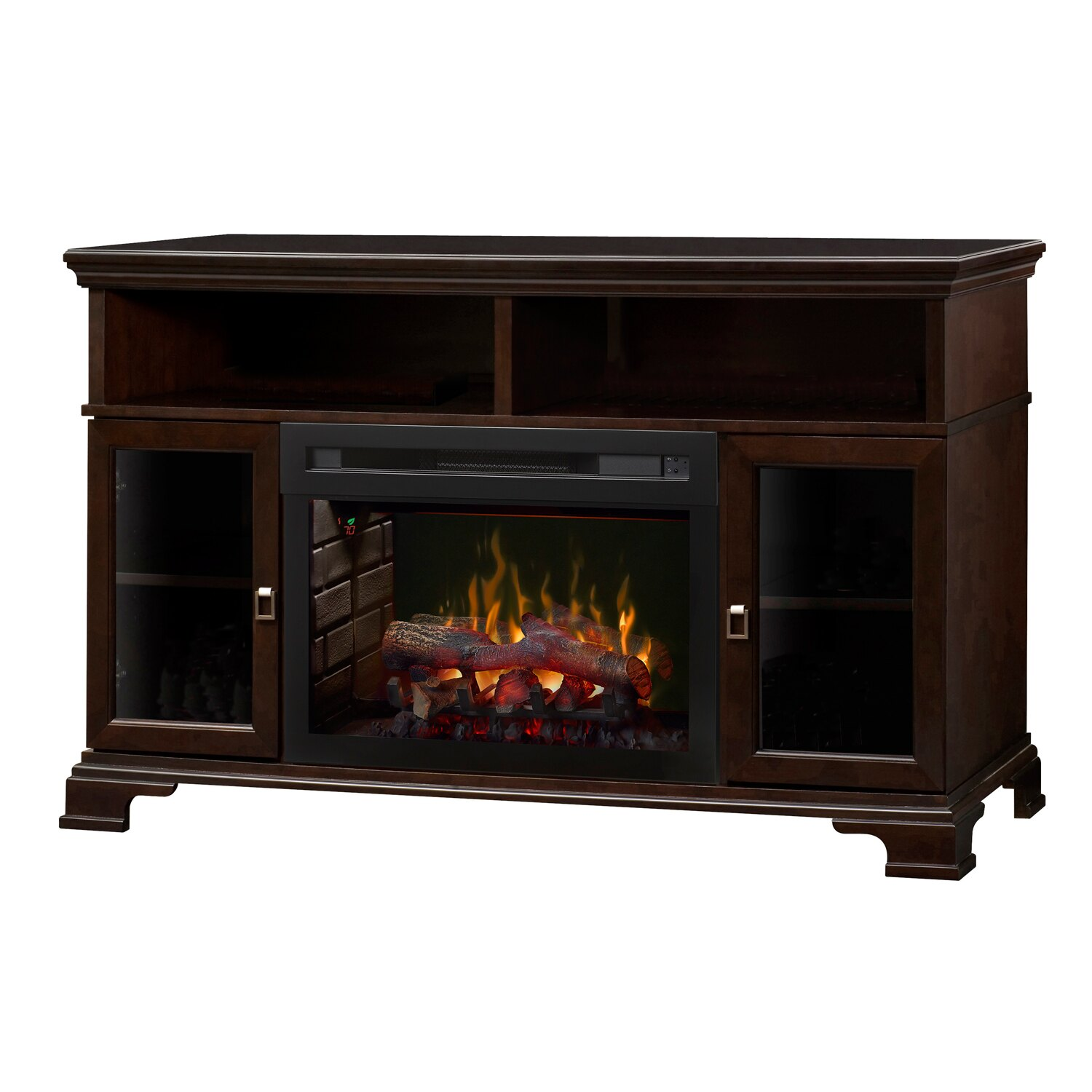 Double Sided Electric Fireplace Elegant Dimplex Electric Fireplace Brookings with Logs Espresso