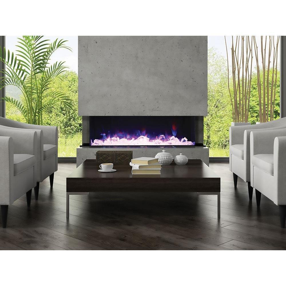 Double Sided Electric Fireplace Unique Amantii Tru View 3 Sided Built In Electric Fireplace 72 Tru View Xl 72""