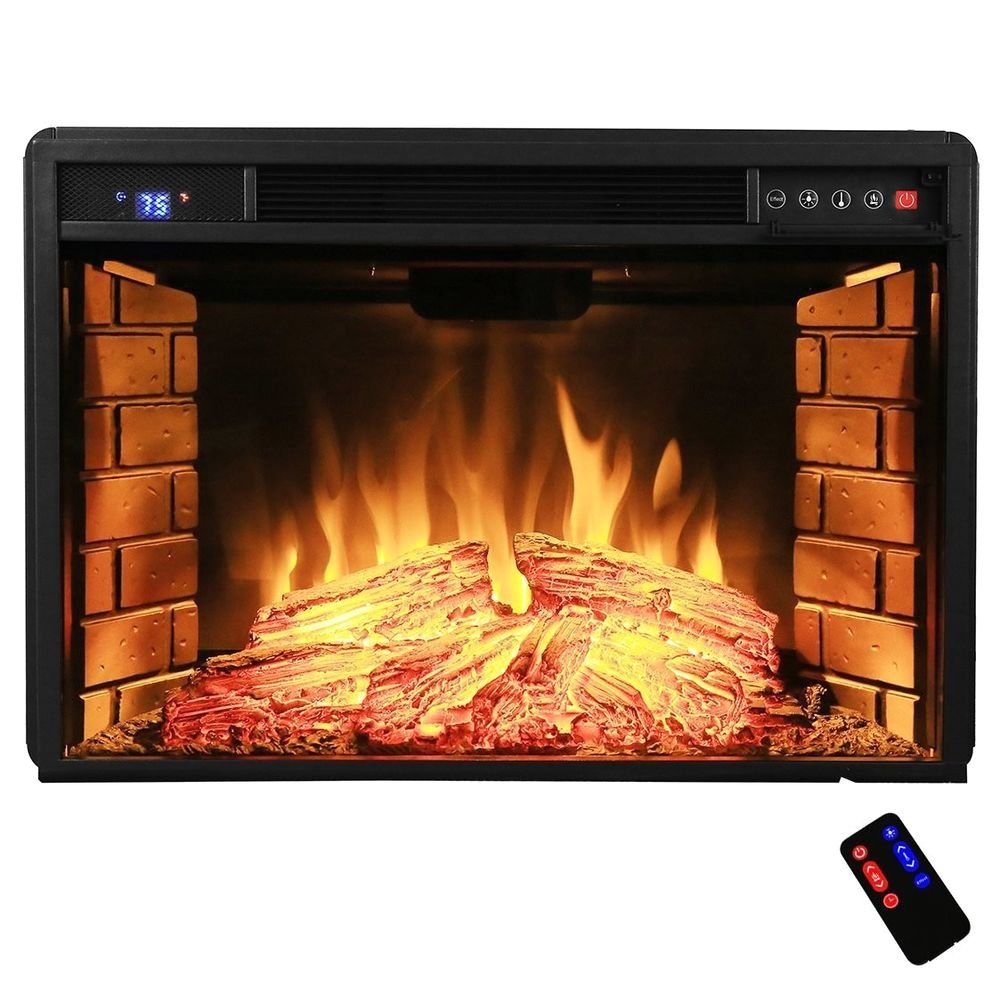 electric fireplace insert with heater w remote duraflame like the logs 28 freestanding electric fireplace insert heater in black with of electric fireplace insert with heater w remote durafl