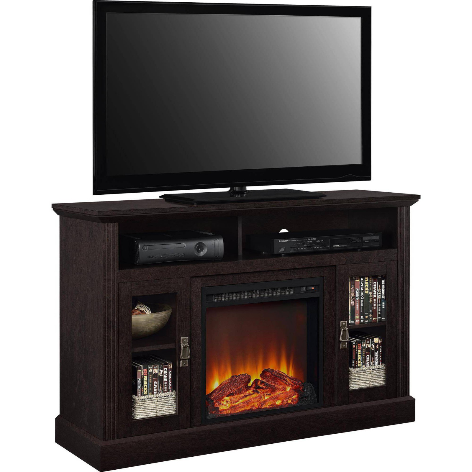 electric fireplace tv stand inspirant ameriwood home chicago electric fireplace tv console for tvs up to a of electric fireplace tv stand