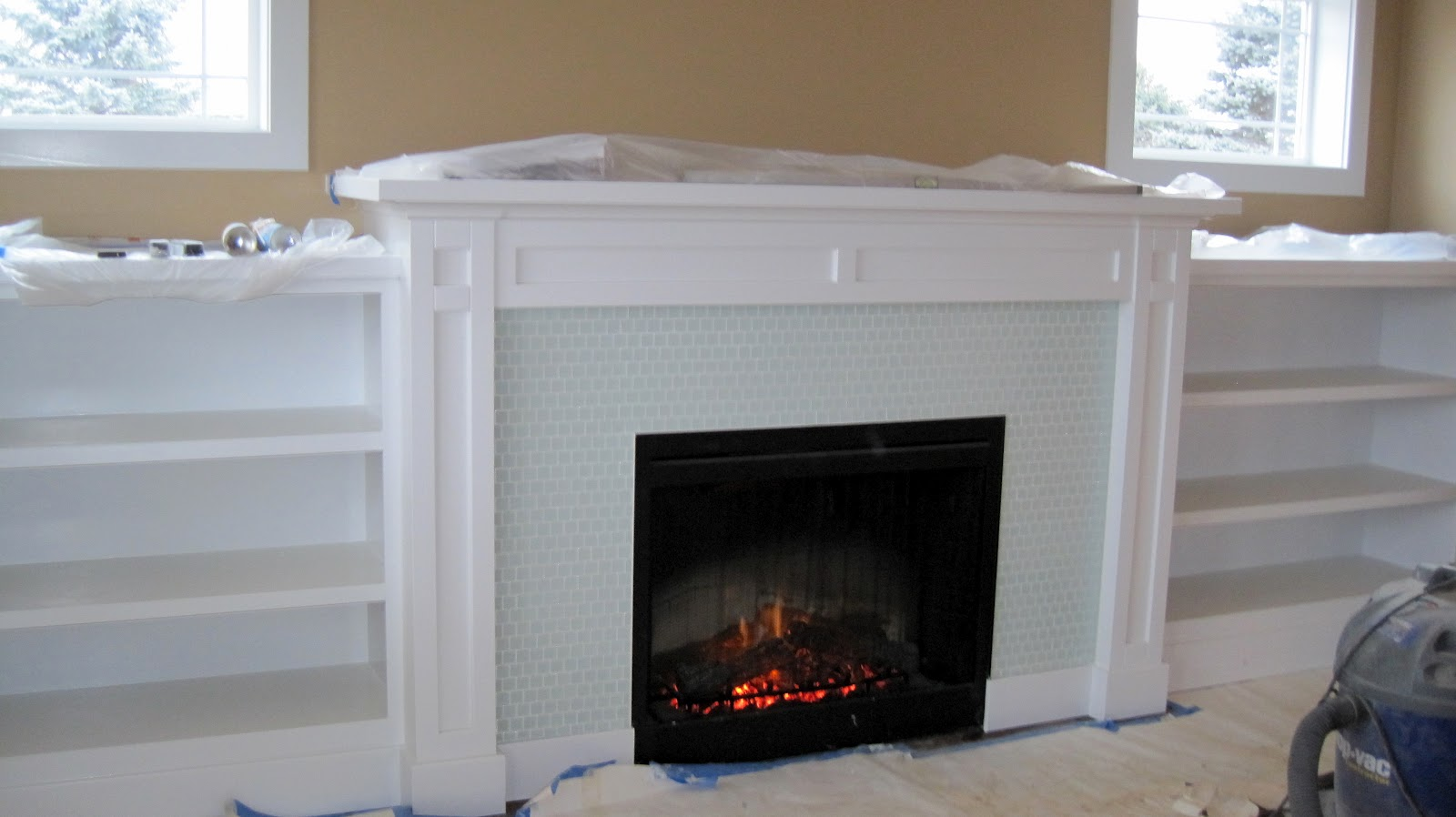 craftsman fireplace and built in shelves JPG