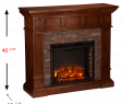 Electric Fireplace Heaters with thermostat Lovely southern Enterprises Merrimack Simulated Stone Convertible Electric Fireplace