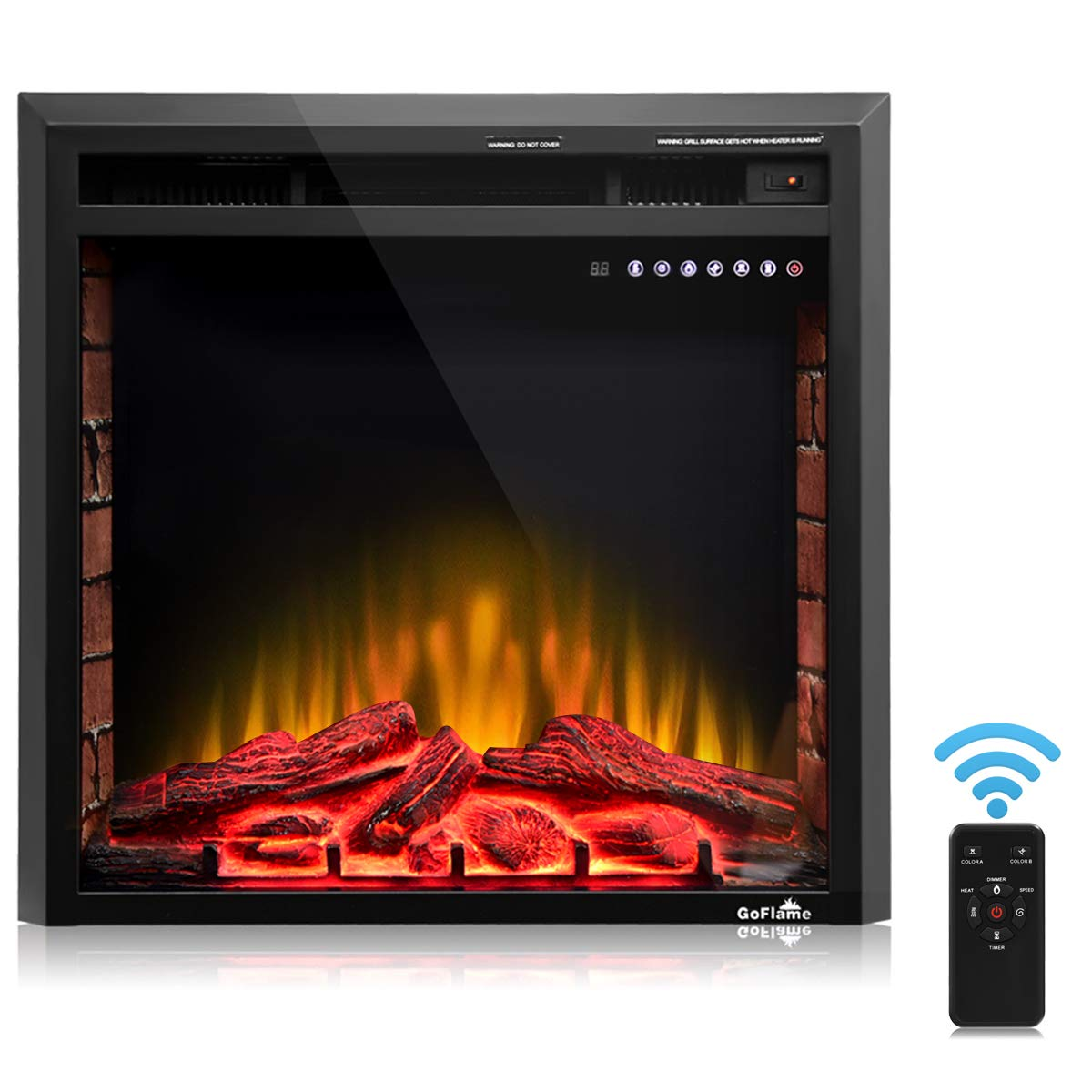 """Electric Fireplace Logs with Heater Lovely Best fort Recessed 36"""" Electric Fireplace Multi Operating Electric Fireplace Insert with Remote 750w 1500w Built In Electric Fireplace"""