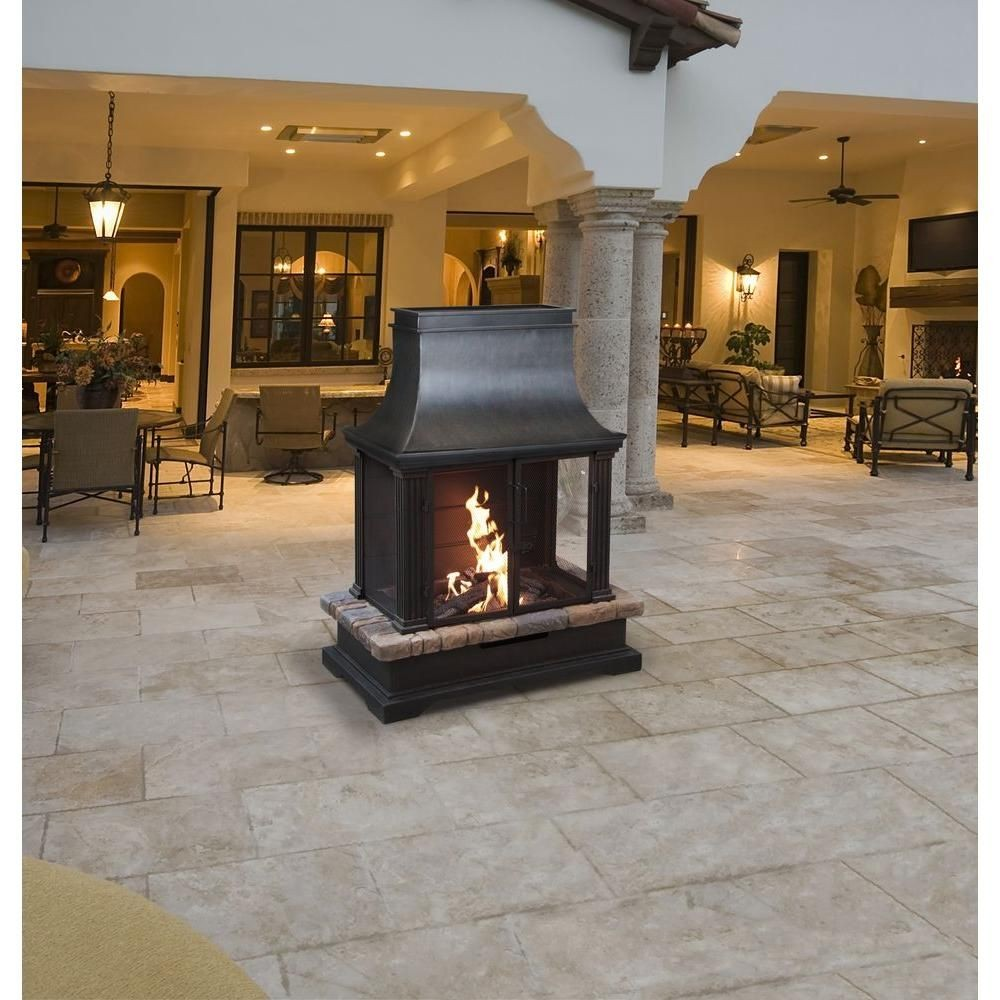 outdoor fireplace steel awesome bond manufacturing sevilla 36 in steel and slate wood burning of outdoor fireplace steel