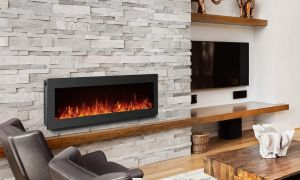 18 New Electric Fireplace Stone Wall