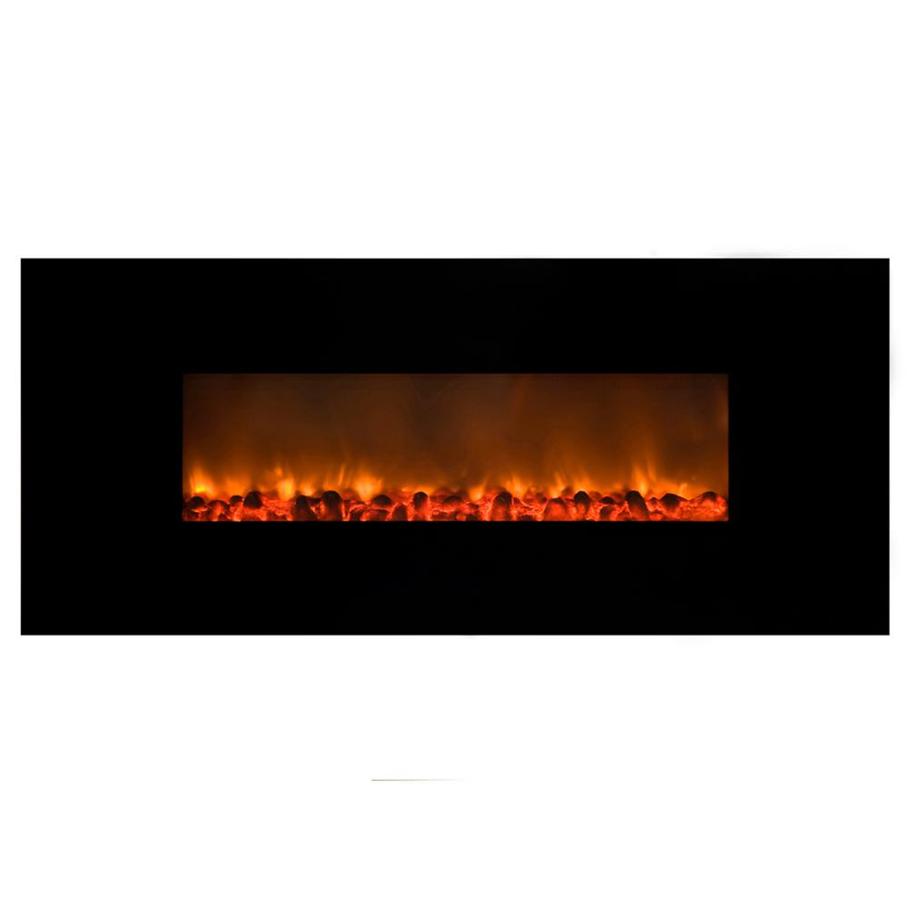 Electric Fireplace that Heats 2000 Sq Ft Beautiful Mood Setter 54 In Wall Mount Electric Fireplace In Black