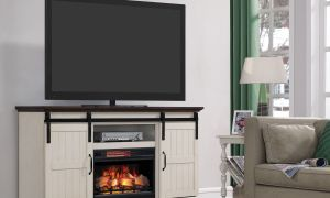 10 Unique Electric Fireplace Tv Stand with Sliding Barn Doors