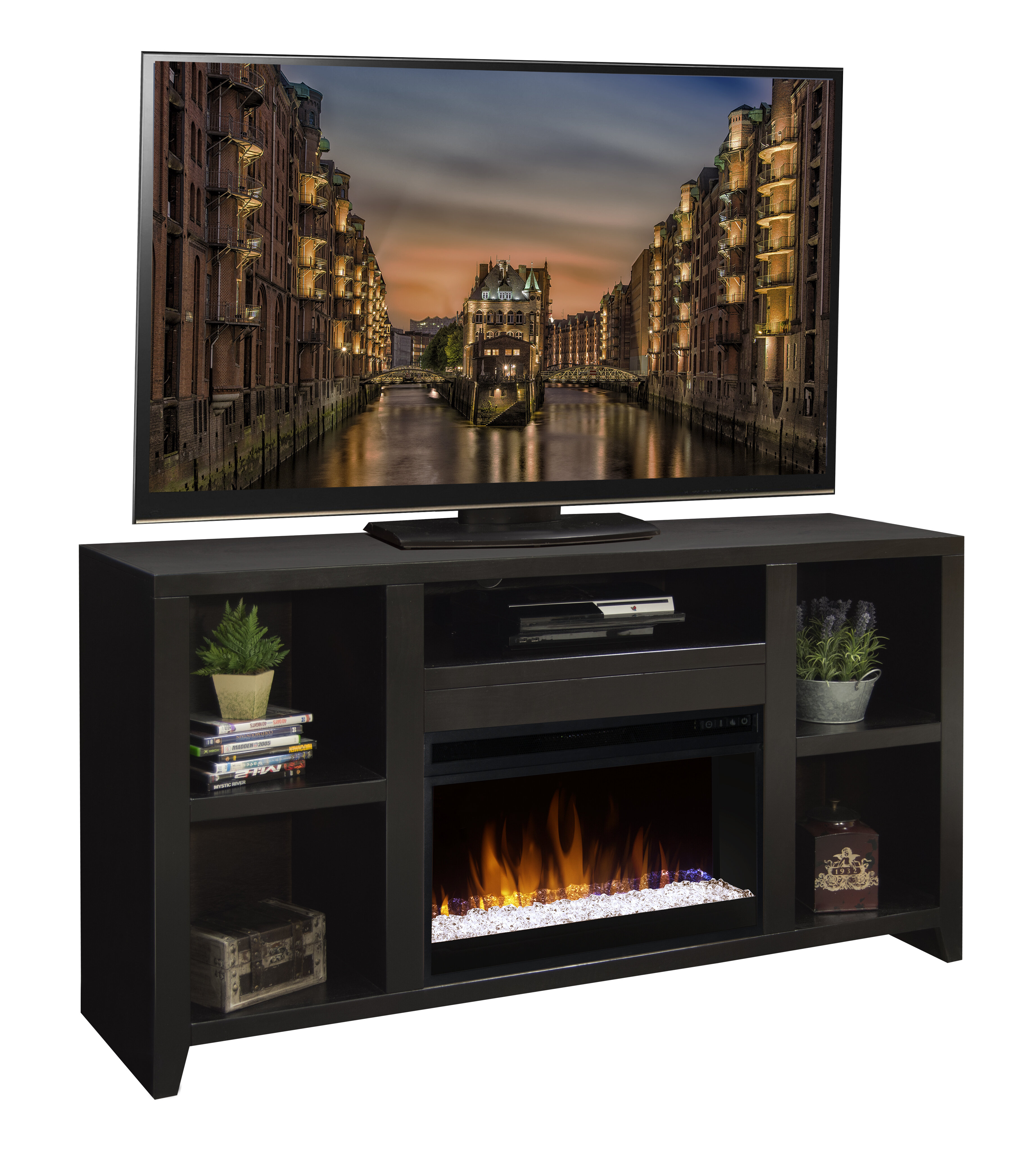 garretson tv stand for tvs up to 65 with fireplace