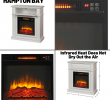 Electric Fireplace with Wood Mantel Inspirational White Infrared Electric Fireplace Heater Mantel Tv Stand Media Cent Led Flame