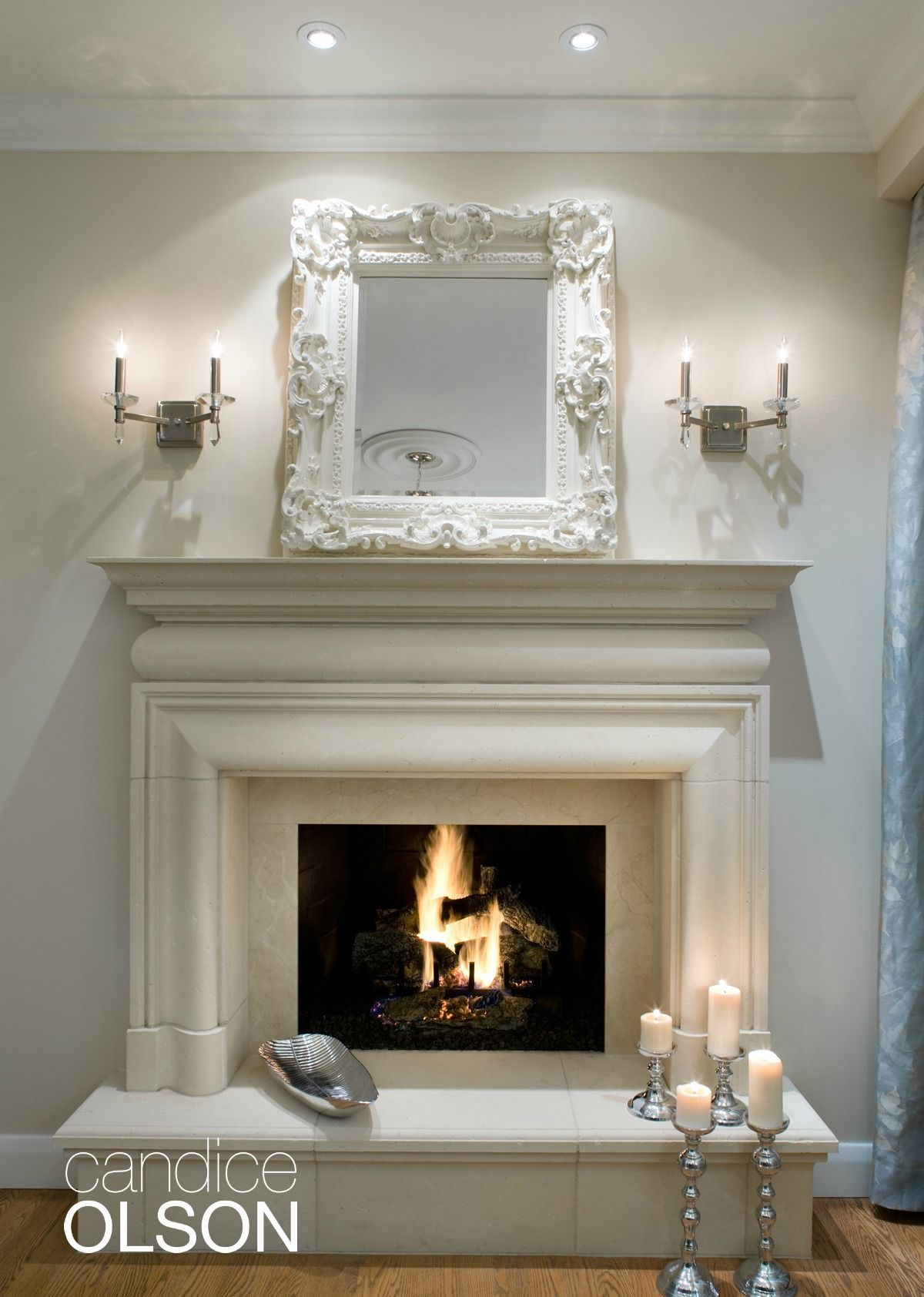 Elegant Fireplace Mantels Elegant A Beautiful Cast Stone Surround and Hearth Look Like Hand