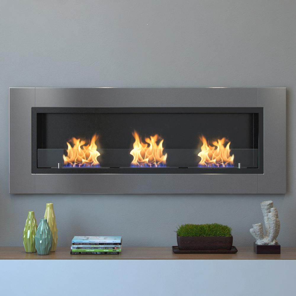 stainless steel moda flame ethanol fireplaces gf 64 1000