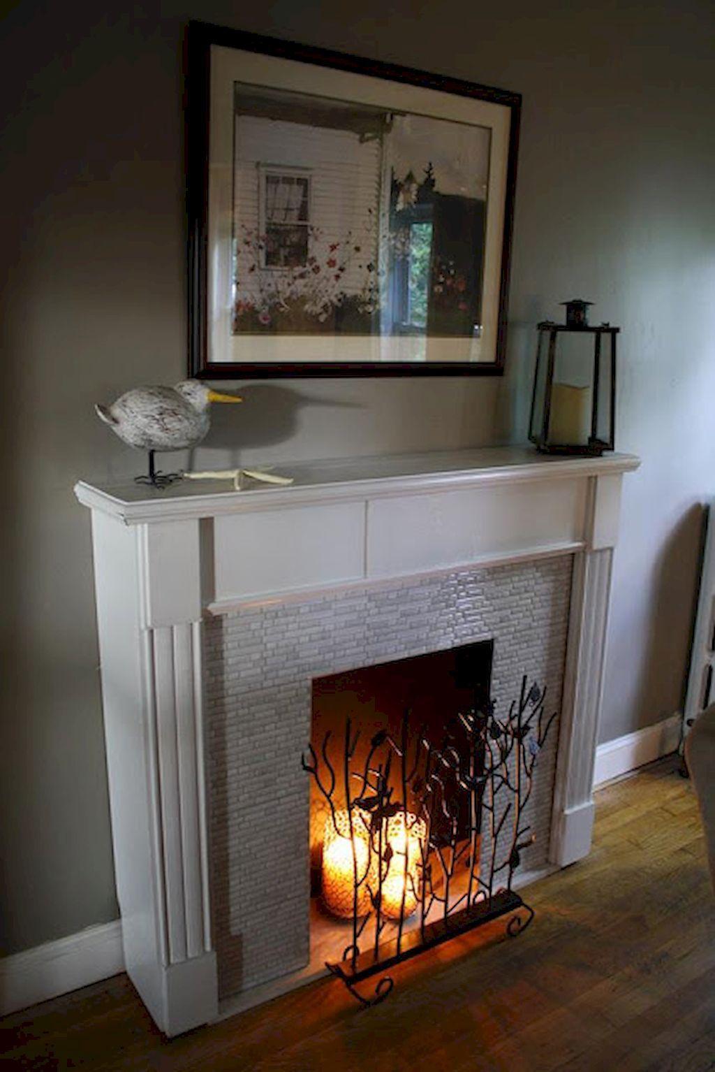 Fake Fireplace Ideas Unique 70 Gorgeous Apartment Fireplace Decorating Ideas