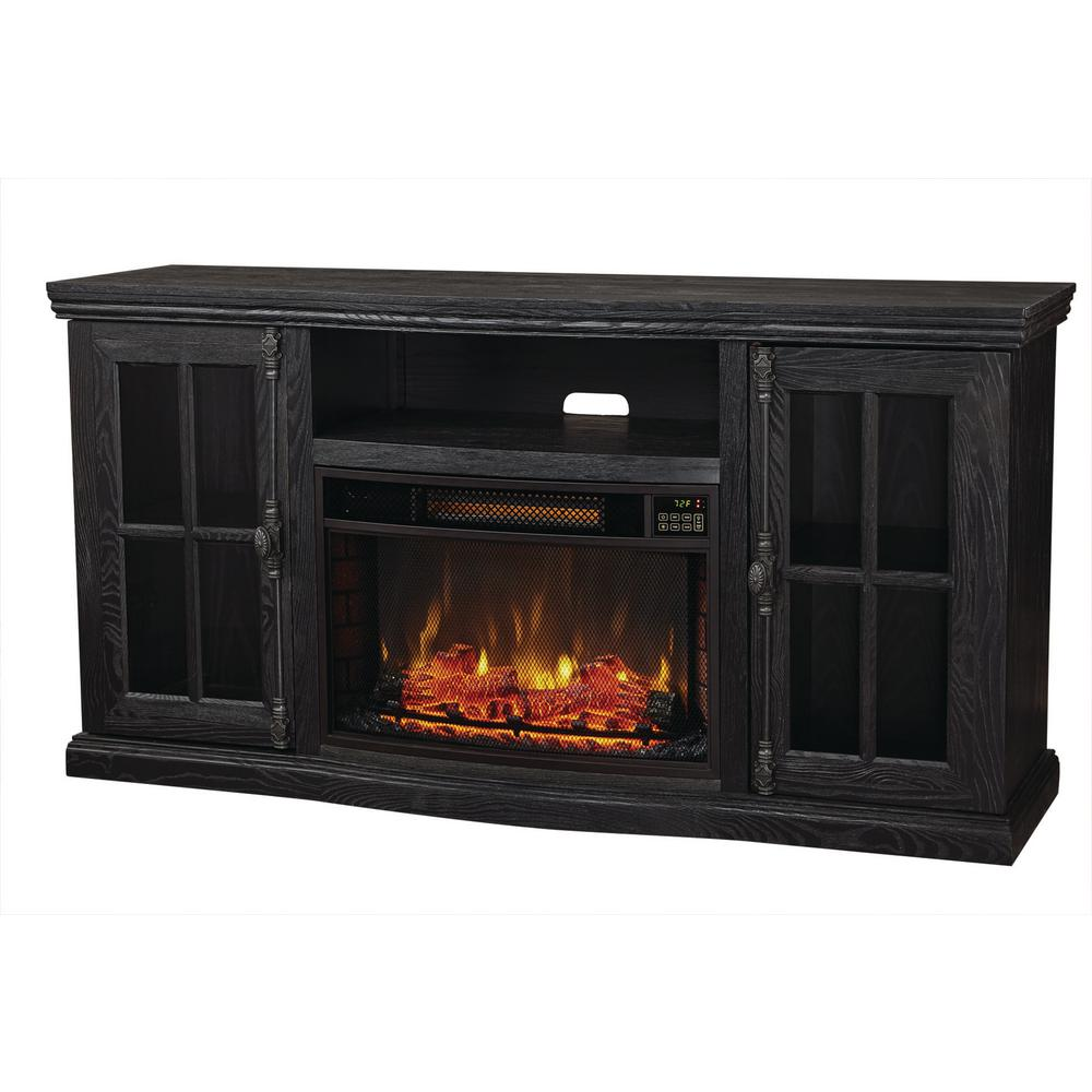 ash black home decorators collection fireplace tv stands bsf 1761 bk 64 1000