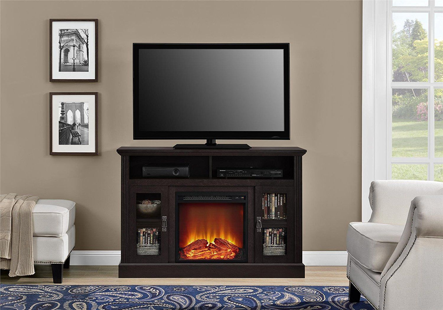"Farmington Electric Fireplace Best Of Electric Fireplace Tv Console for Tvs Up to A 50"" Great for"