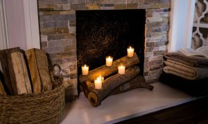 22 Unique Faux Fireplace Logs