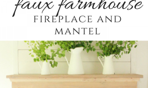 29 Beautiful Faux Fireplace Mantel Diy