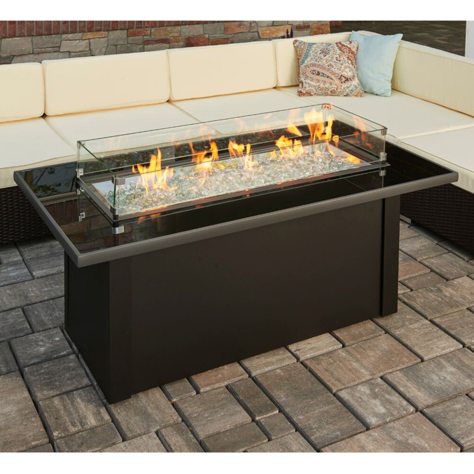 Fireplace Accessories Walmart New Outdoor Greatroom Monte Carlo 59 3 In Fire Table with Free Cover