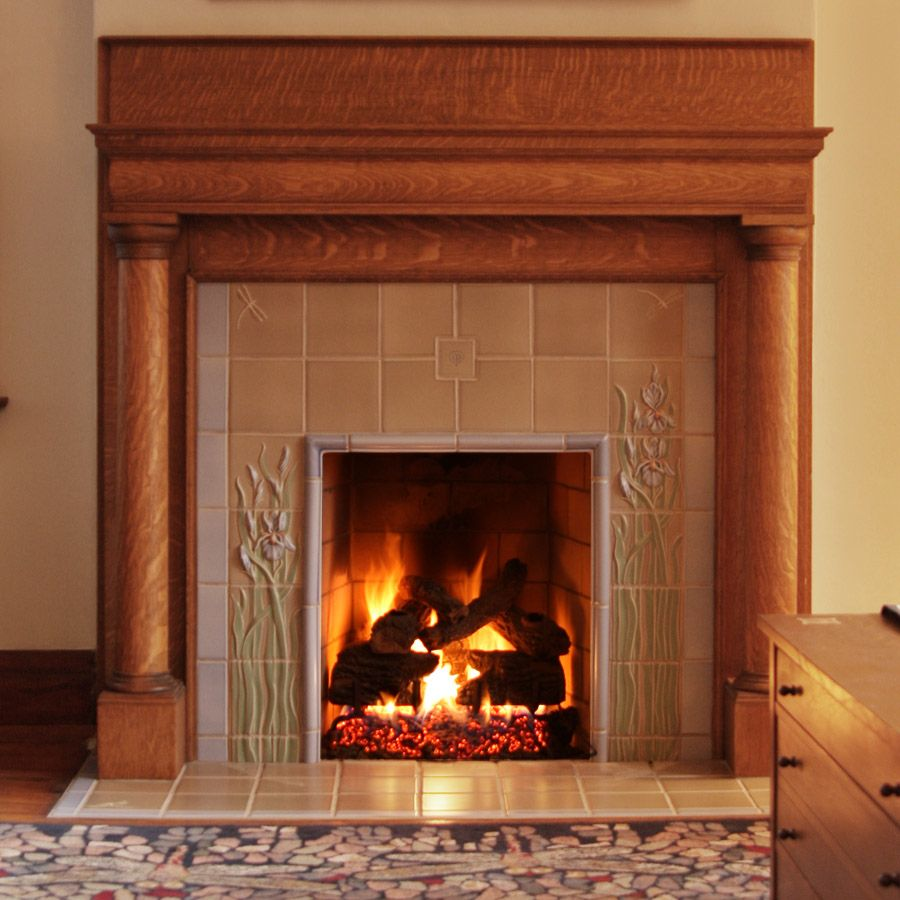 Fireplace Cincinnati Fresh Rookwood Tile Adorning Existing Fireplace