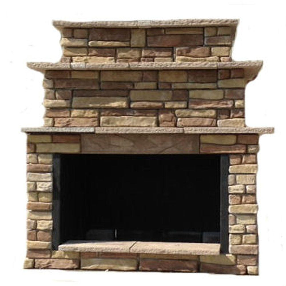 outdoor fireplace insert kits lovely 72 in random brown grand outdoor fireplace kit rbgfpl the home depot of outdoor fireplace insert kits