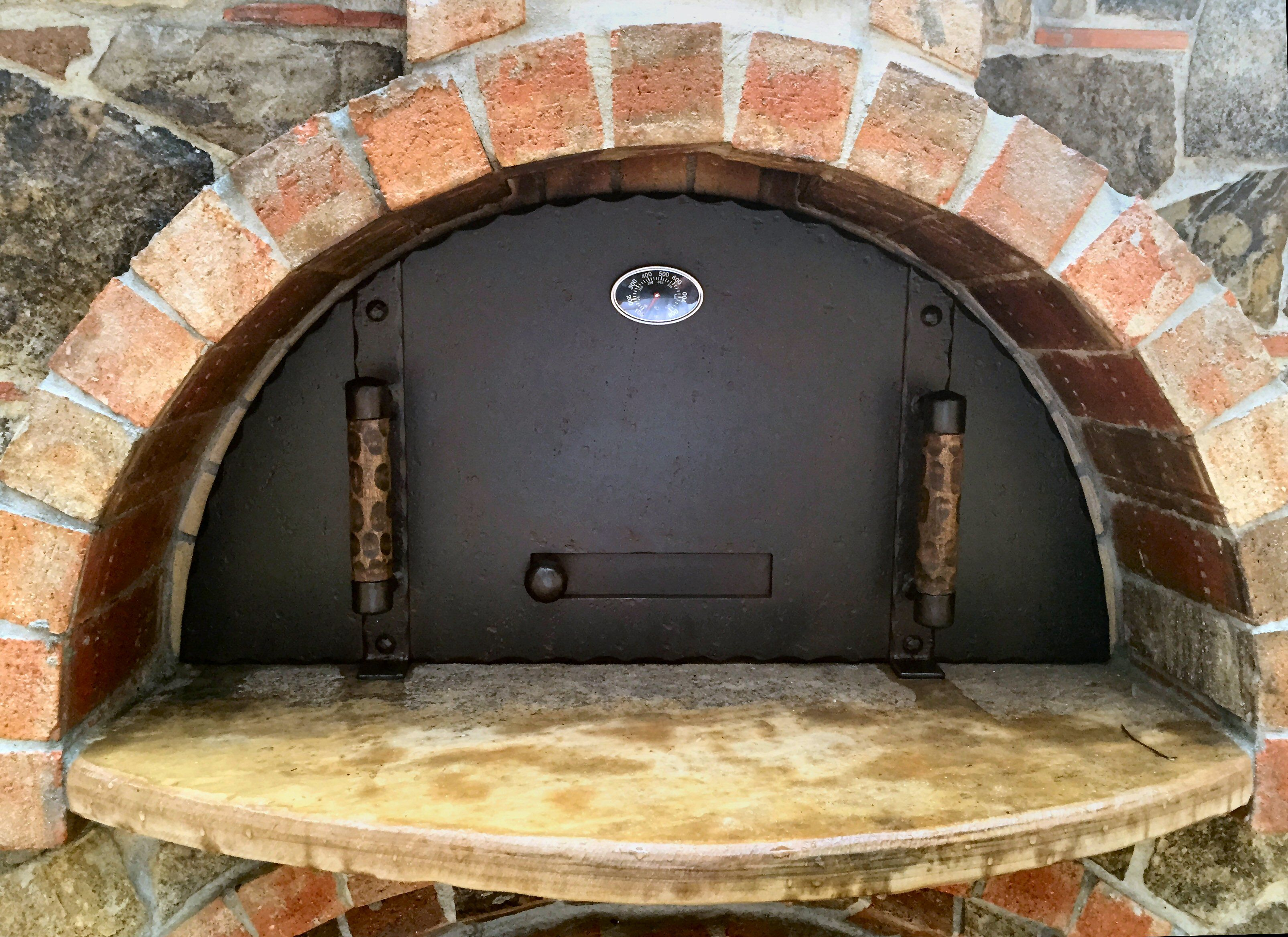 Fireplace Damper Handle Fresh Md 208 Full Radius Pizza Oven Door with A Damper