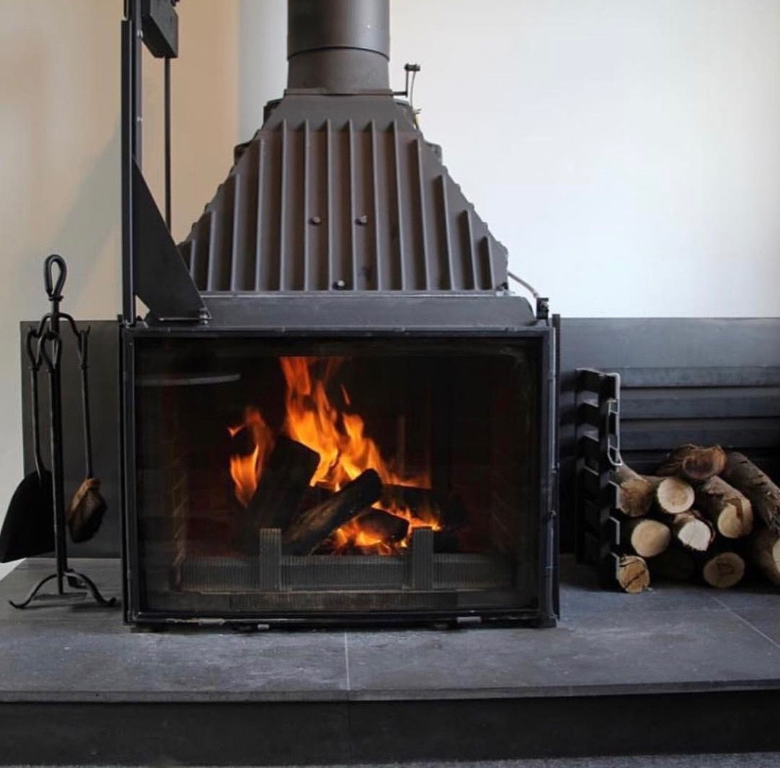 Fireplace Damper Open or Closed Luxury Cast Iron Heating Machine at Brae Restaurant Victoria
