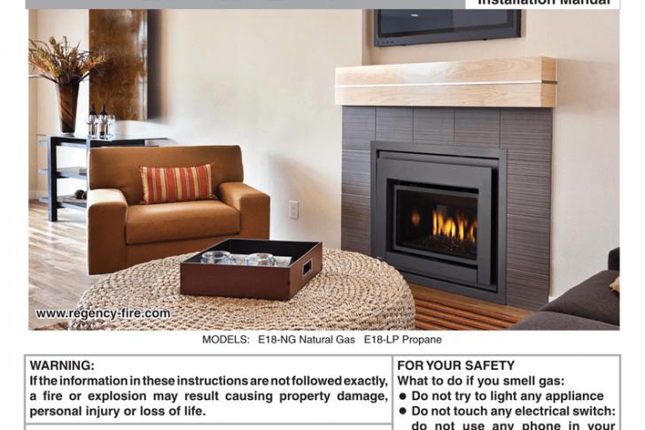 Fireplace Damper Repair Elegant Regency Fireplace Products E18 Installation Manual