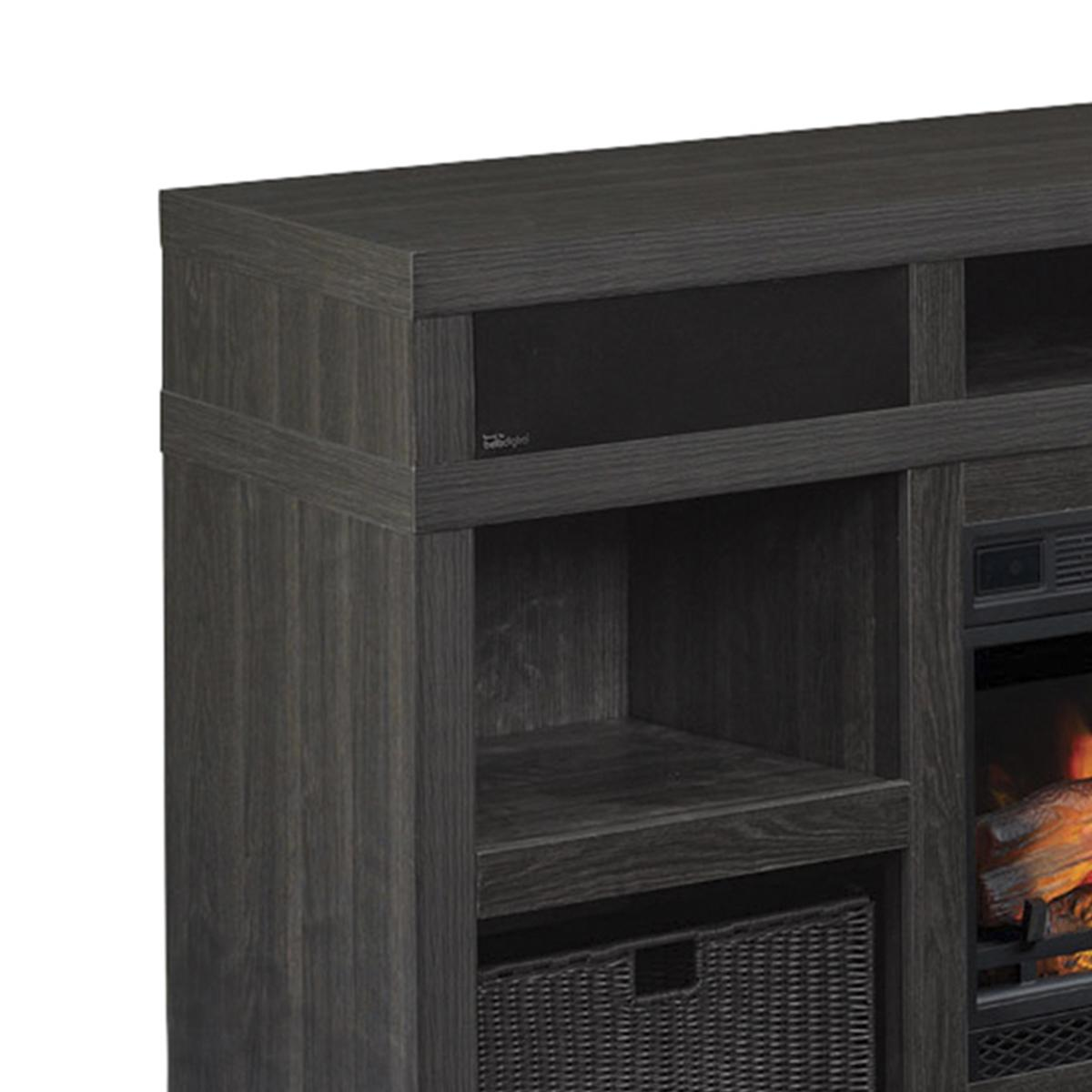 """Fireplace Des Moines Inspirational Fabio Flames Greatlin 64"""" Tv Stand In Black Walnut"""