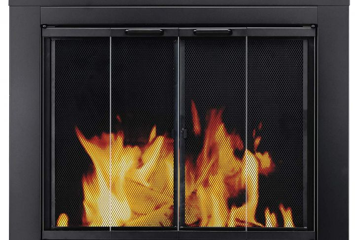 Fireplace Door Parts Fresh Pleasant Hearth at 1000 ascot Fireplace Glass Door Black Small