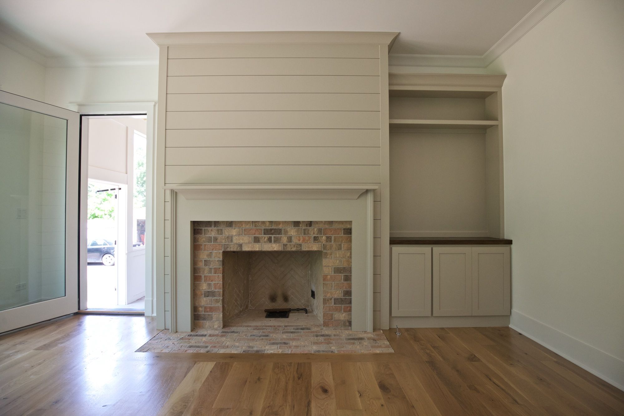 Fireplace Drawing Awesome Shiplap Fireplace Surround In Family Room