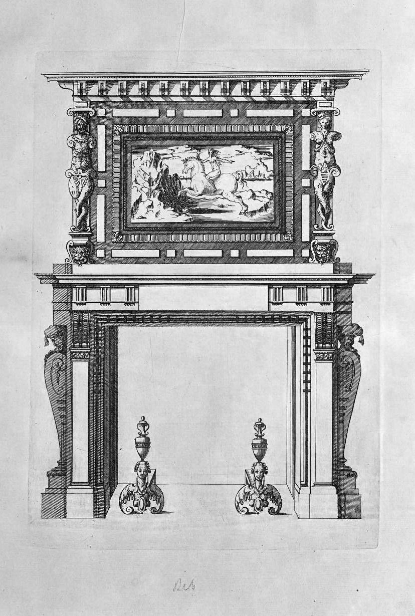 Fireplace Drawing Unique Design for A French Renaissance Fireplace