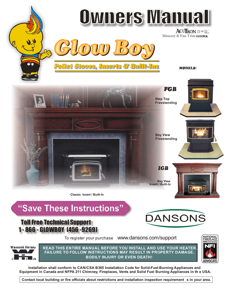 Fireplace Fresh Air Intake Fresh Dansons Group Glow Boy Fgb User S Manual