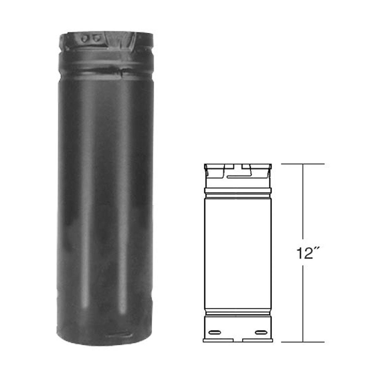 Fireplace Gas Pipe Unique 3 X 12 Pelletvent Pro Black Pellet Stove Chimney Pipe 3pvp 12b