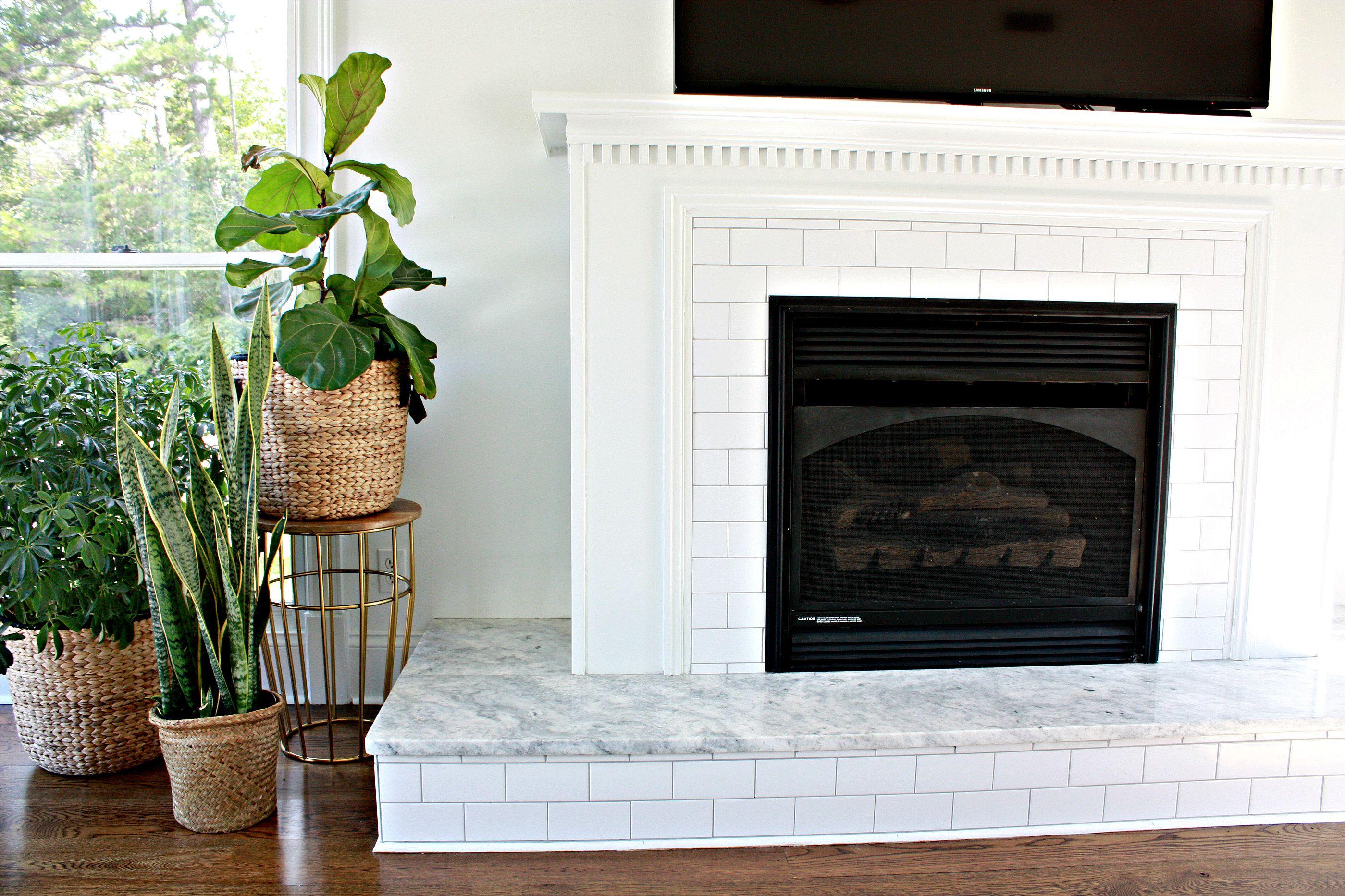 Classic Subway Tile Fireplace Carrera Marble 59f793e668e1a d