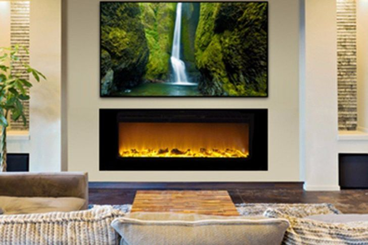"""Fireplace Lights Led Fresh Sideline 60 60"""" Recessed Electric Fireplace In 2019"""