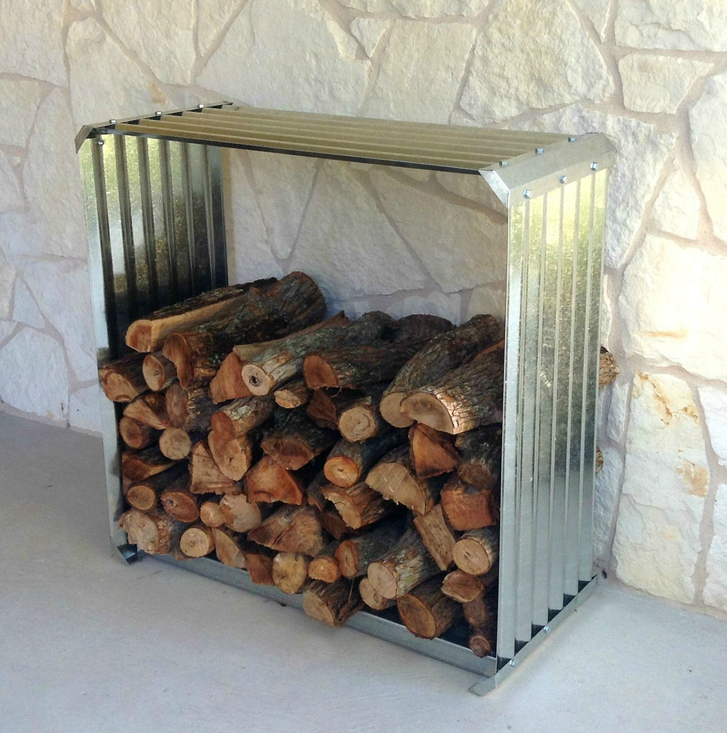 Fireplace Log Holder Fresh Corrugated Firewood Rack A Unique Way to Store Firewood