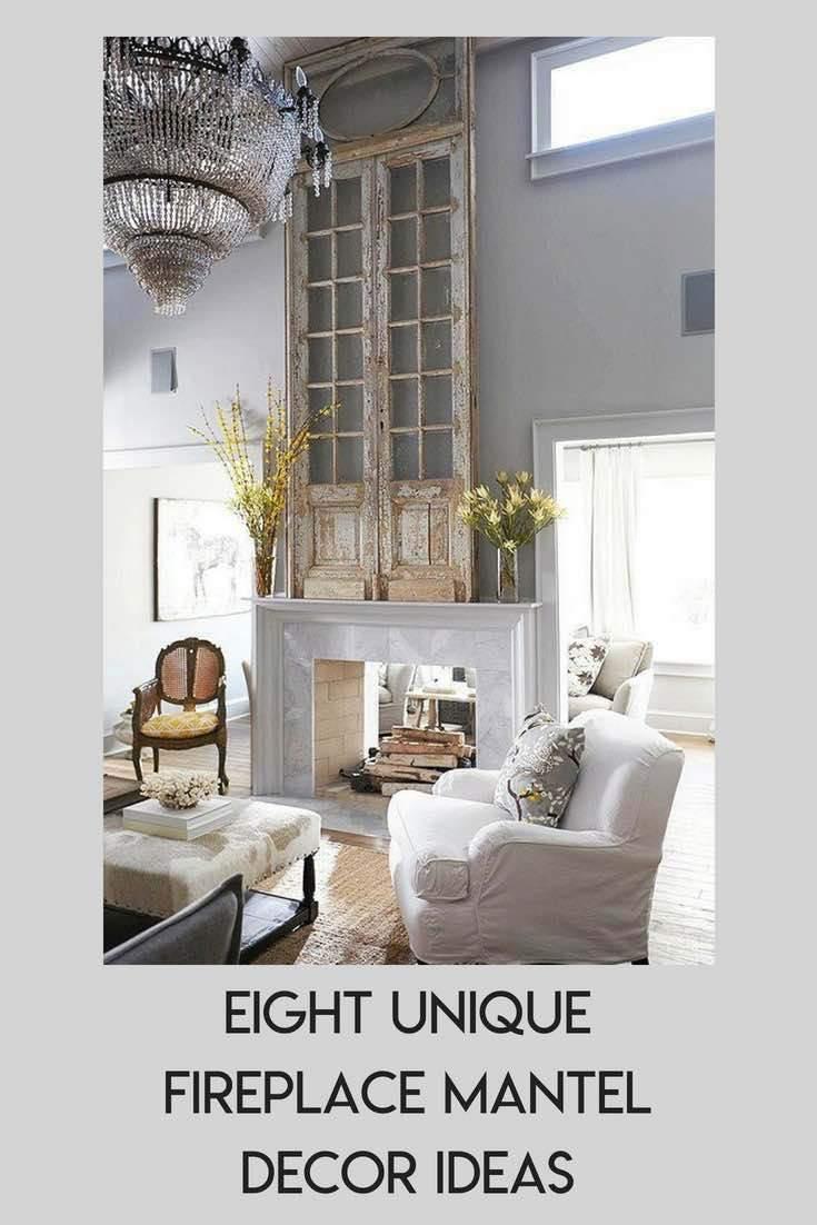 Eight Unique Fireplace Mantel Decor Ideas