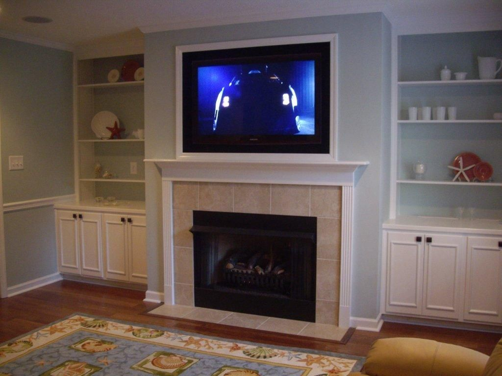 Fireplace Mantel Height with Tv Above New In This Tv Over Fireplace Design the Tv is Framed with White