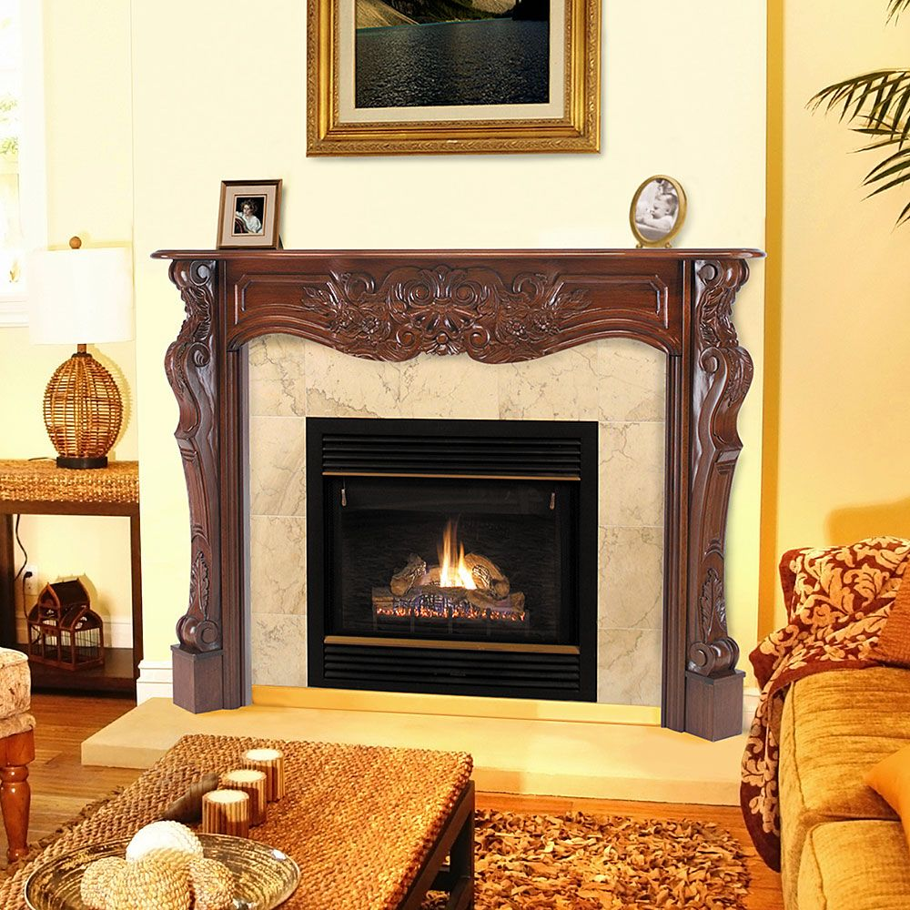 Fireplace Mantel Kits Lovely Cortina 48 In X 42 In Wood Fireplace Mantel Surround