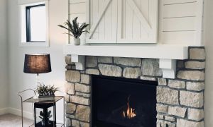 27 Inspirational Fireplace Mantels with Hidden Storage