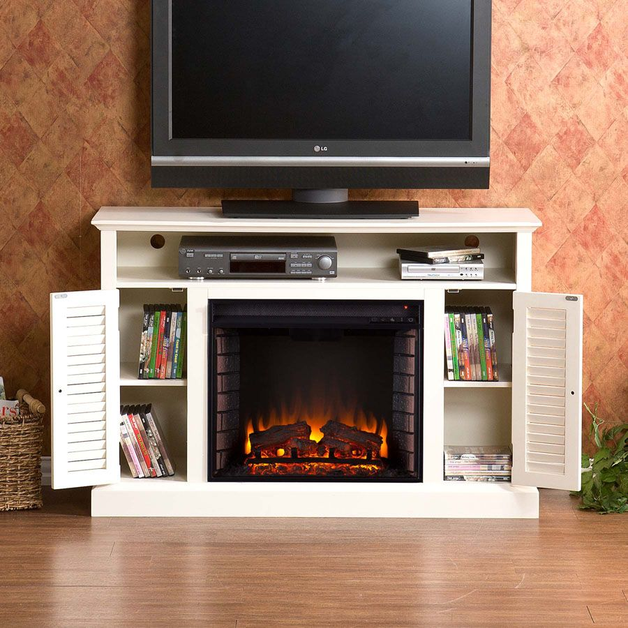 Fireplace Media Cabinet New Antique White Electric Fireplaces