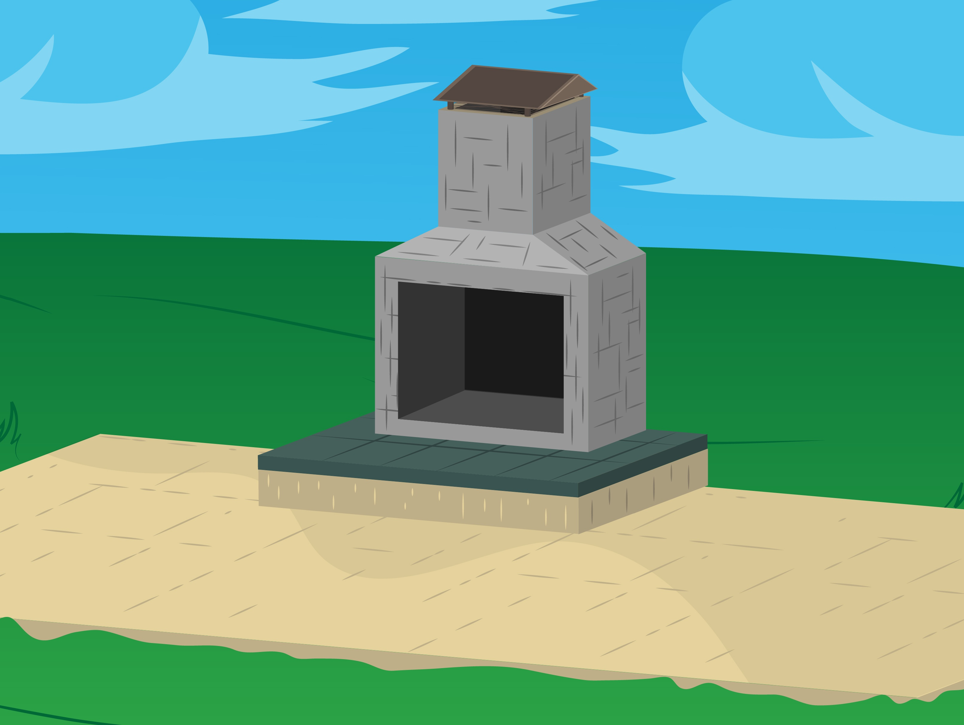 Build Outdoor Fireplaces Step 19