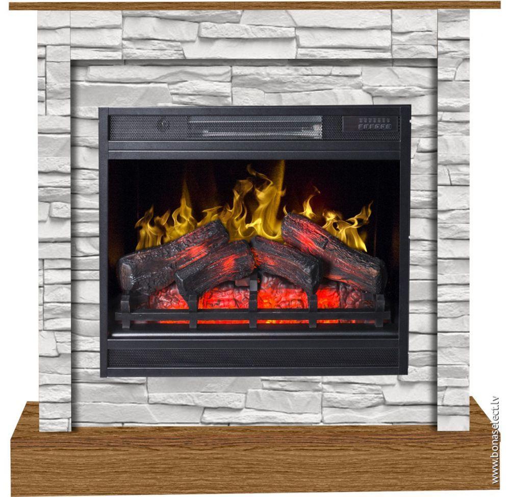 Fireplace Radiator Beautiful Камин Vigo Stone White 3d с портаРом