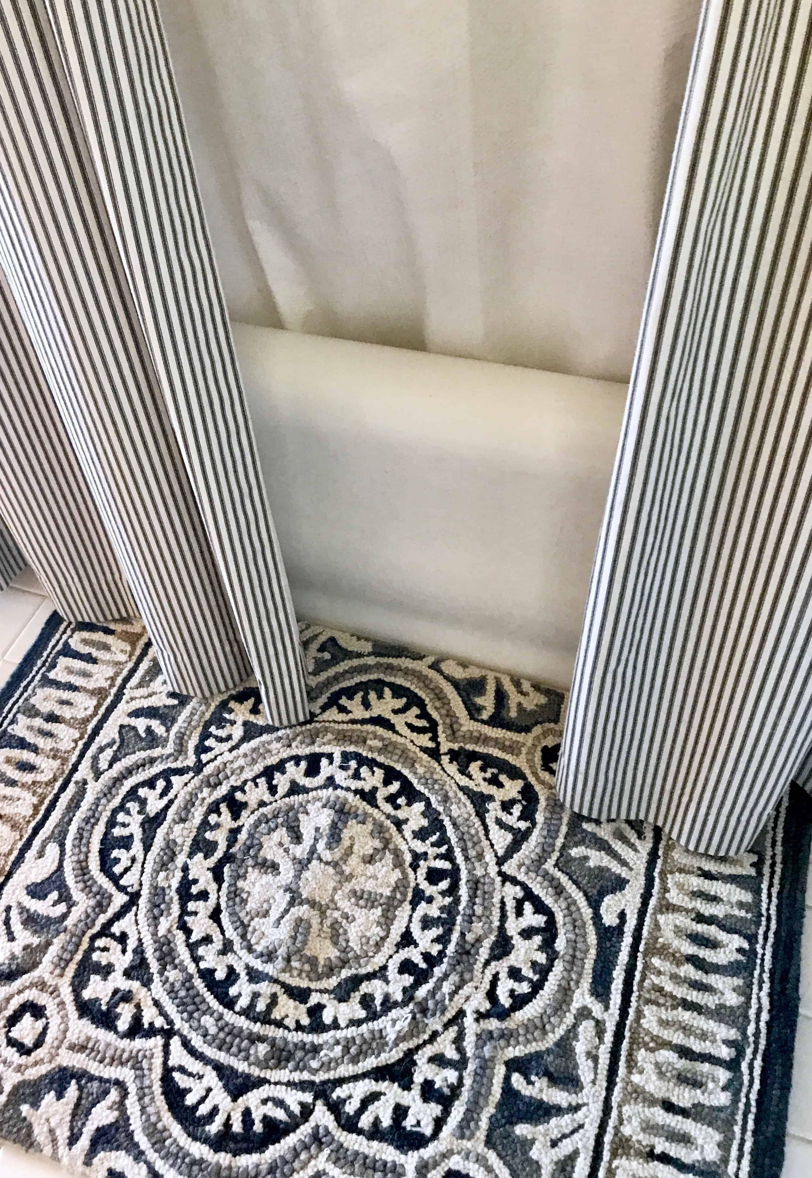 Tar wool indigo and gray rug